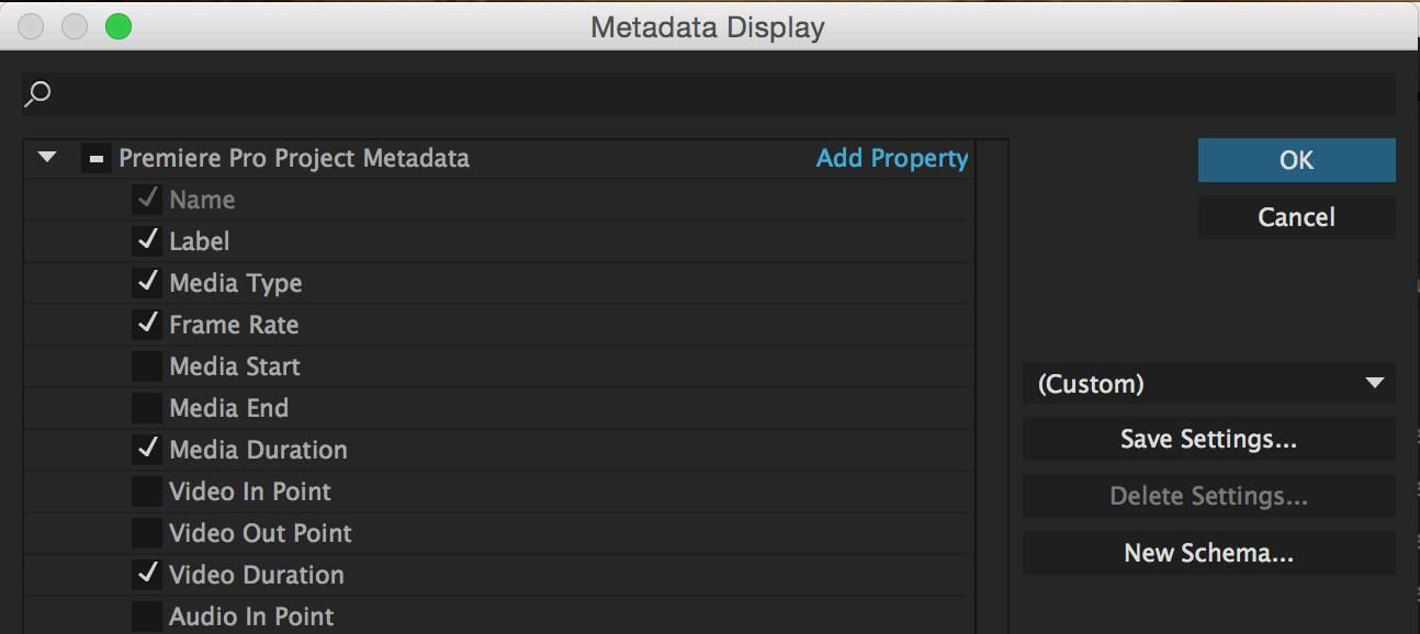 PR素材管理小技巧 - Metadata使用