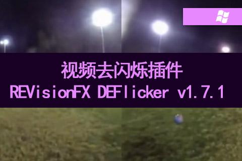 视频去闪烁插件REVisionFX DEFlicker v1.7.1 Win