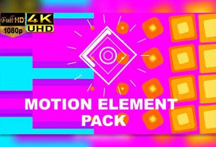 100+4K创意图形运动流体动画元素包