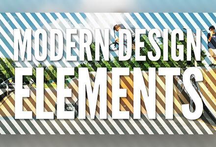 195个4K现代动感图形设计元素叠加动画
