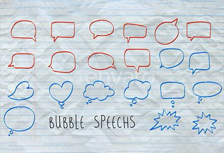 146个手绘草图字幕箭头圆圈线条形状气泡动画素材
