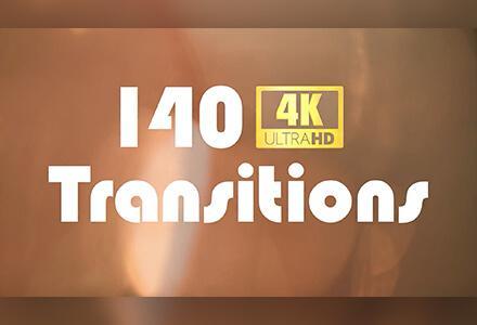 140个4K镜头光晕漏光闪光效果转场
