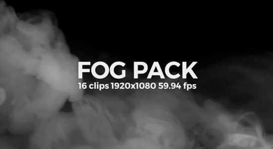 16个烟雾弥漫雾气缥缈动画特效素材 Fog Pack