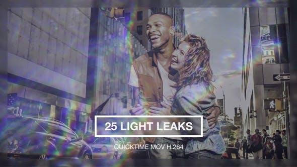 25个镜头漏光炫光光晕动画素材 Light Leaks Pack v1