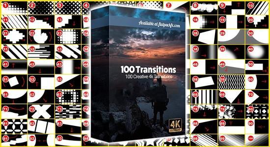 100个多边形图形遮罩转场过渡动画4K视频素材 有透明通道