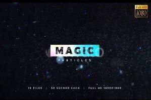 10款美丽魔法粒子光斑视频素材