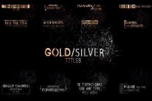 12组文字飘散扫光粒子金色银色消散字幕渐变
