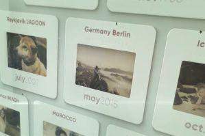 简约优美质感卡片照片展示电子相册模板