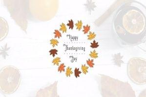 感恩节视频制作标题文字PR模板
