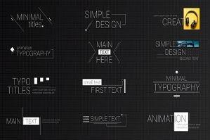极简线条文字动画PR字幕模板