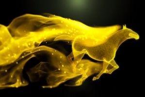 金马奔跑粒子飘散LOGO显示PR模板