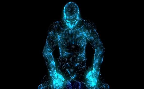 酷炫光效机器人小片头模板