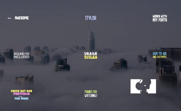 城市标题模板