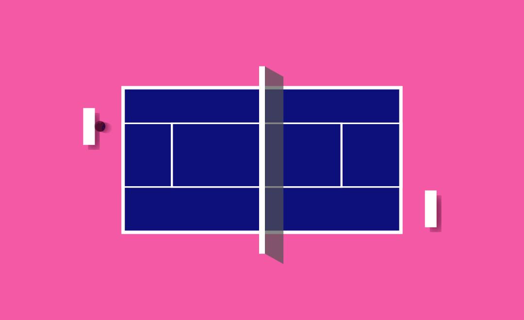 AE制作运动效果教程(AE矩形工具制作乒乓球台的趣味动画)