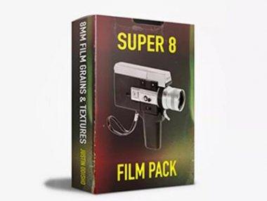20个4K电影胶片颗粒噪点质感纹理叠加效果 Super 8mm