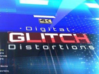 43个数字故障失真干扰特效动画素材 Digital Glitch Distortions