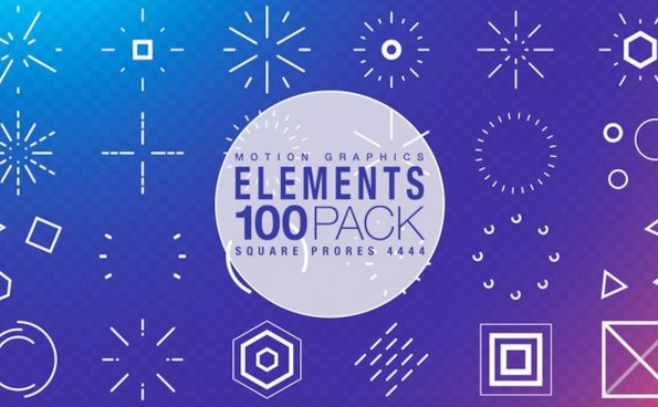 100个影片装饰图形元素动画
