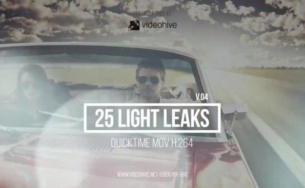 25个镜头漏光炫光光晕动画素材 Light Leaks Pack v4